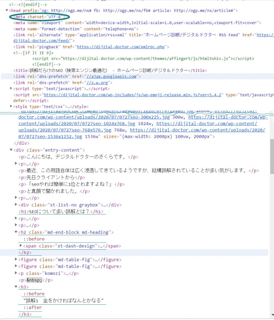 ホームページのHtmlソース